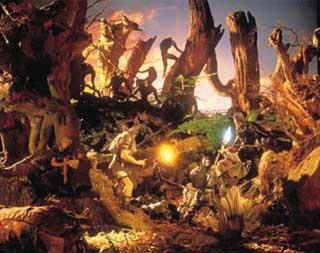 俠客遊系列一向都使用紙黏土人偶風格的實景照片做為封面,臨場感十足!圖片連結自ARTDINK Lunatic Dawn II官網。