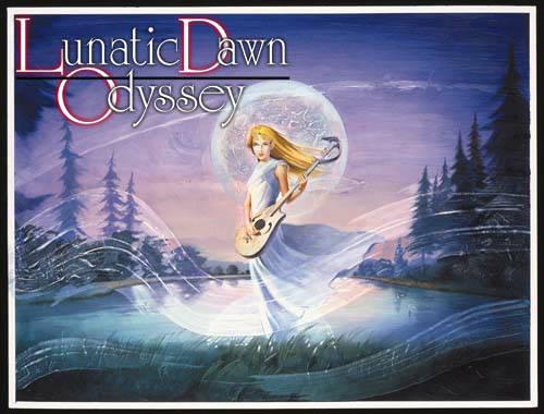 漂亮的插圖是俠客遊系列的傳統,這是PS版的Odyssey。圖片連結自ARTDINK Lunatic Dawn Odyssey官網。